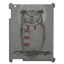 Winter owl iPad covers