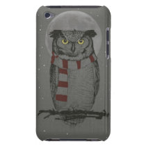 Winter owl iPod touch case