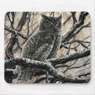 Winter Owl Mouse Pad