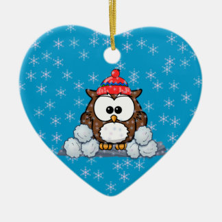 winter owl christmas ornaments