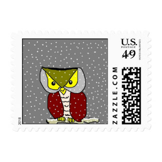 """ Winter Owl "" Postage"