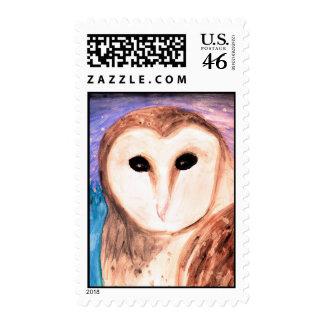 Winter Owl Stamp Sheet