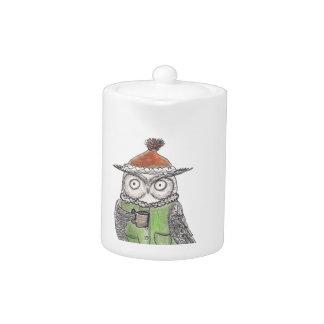Winter Owl Teapot