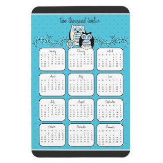 Winter Owls 2012 Calendar Magnet