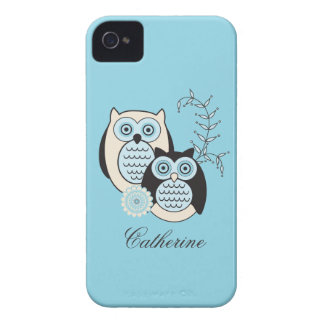 Winter Owls BlackBerry Bold Case-Mate Barely There Case-Mate iPhone 4 Cases