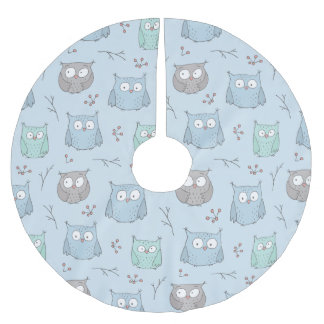 Winter Owls Brushed Polyester Tree Skirt