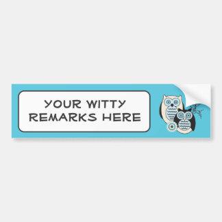 Winter Owls Bumper Sticker
