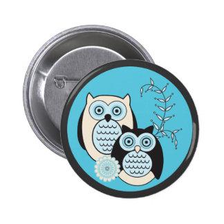 Winter Owls Button