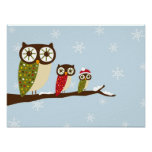 winter owls canvas print