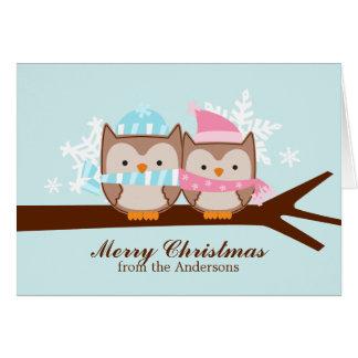 Winter Owls Christmas Cards