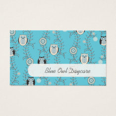 Winter Owls Daycare Business Cards at Zazzle
