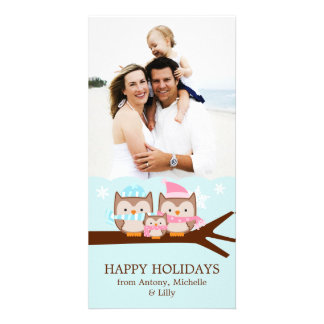 Winter Owls Family Card