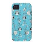 Winter Owls iPhone 4 Case-Mate Tough iPhone 4/4S Case