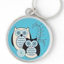Winter Owls Keychain