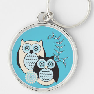 Winter Owls Keychain