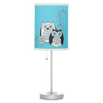 Winter Owls Lamp