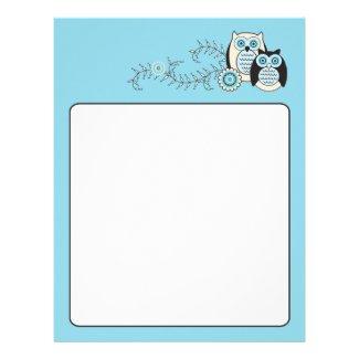 Winter Owls Letterhead letterhead
