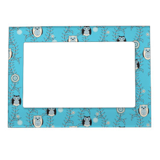 winter owls magnetic frame