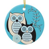 Winter Owls Ornament