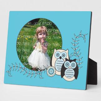 Winter Owls Photo Plaque