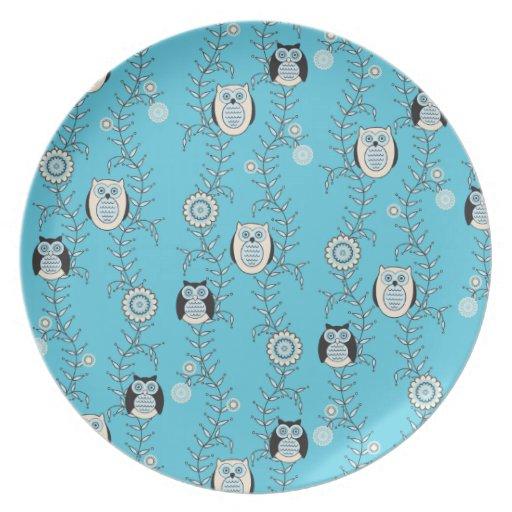 Winter Owls Plate