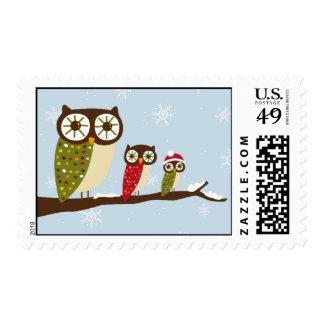winter owls postage