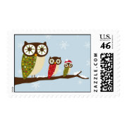 winter owls postage