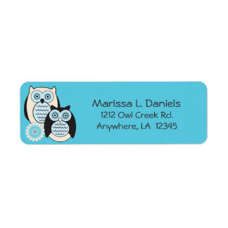 Winter Owls Return Address Labels