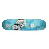Winter Owls Skateboard