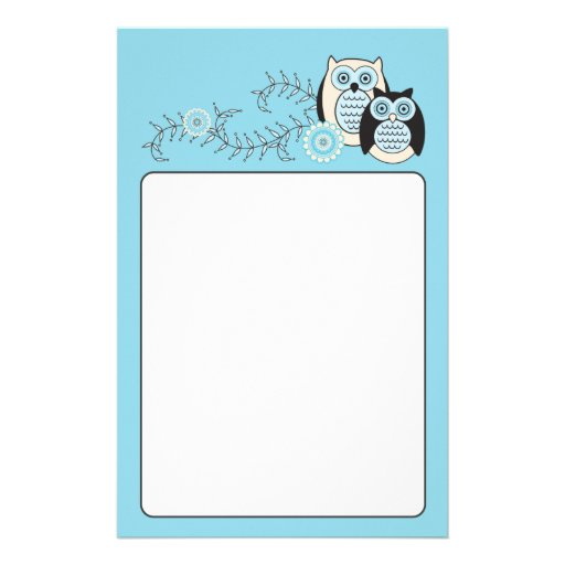Winter Owls Stationery