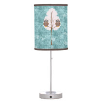 winter owls Table Lamp