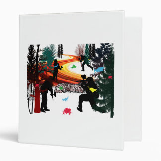 Winter Paintball in the Woods 3 Ring Binder