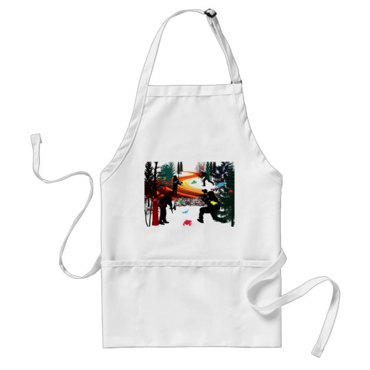 Winter Paintball in the Woods Adult Apron