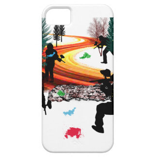 Winter Paintball in the Woods iPhone 5 Cover