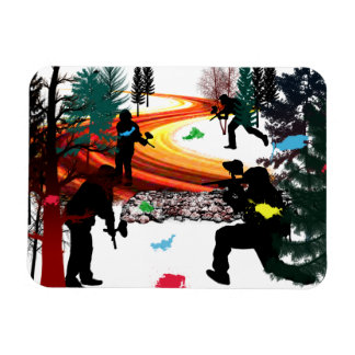 Winter Paintball in the Woods Magnet