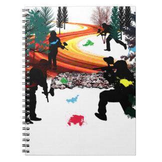 Winter Paintball in the Woods Spiral Notebook