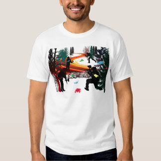 Winter Paintball in the Woods Tees