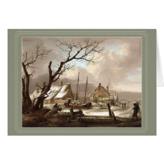 winter painting greeting card