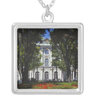 Winter Palace, Hermitage Museum, exterior Silver Plated Necklace
