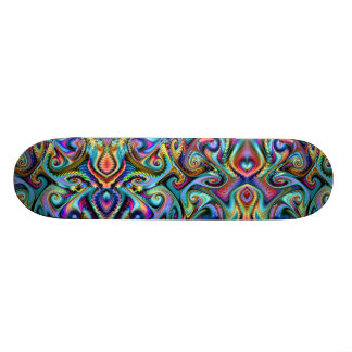 Winter Palette Fractal Skate Board Decks