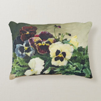 Winter Pansies, 1884 Accent Pillow