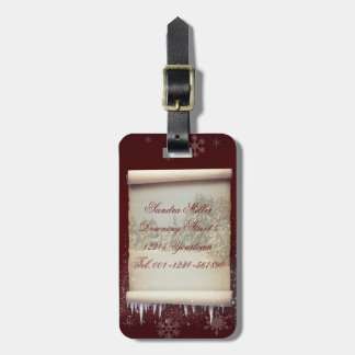 Winter Parchment Illustration - Luggage Tag