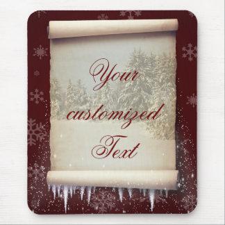 Winter Parchment Illustration - Mousepad
