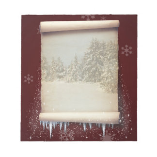 Winter Parchment Illustration - Notepad