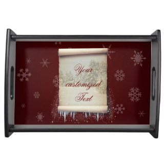 Winter Parchment Illustration - Serving Tray