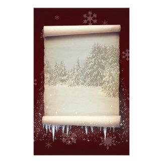 Winter Parchment Illustration - Stationery