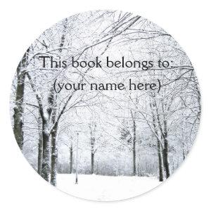 Winter park bookplate sticker