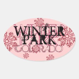 Winter Park Coloardo messy winter stickers