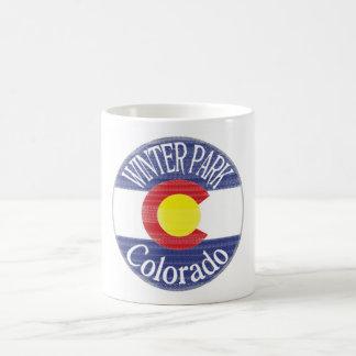 Winter Park Colorado circle flag Coffee Mug