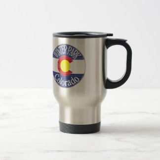 Winter Park Colorado circle flag Travel Mug
